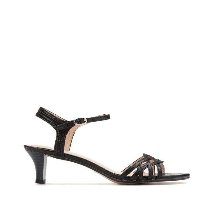 Adina kitten heel sandals black Esprit
