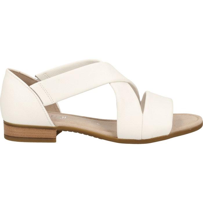 Sandales cuir blanc Gabor | La Redoute