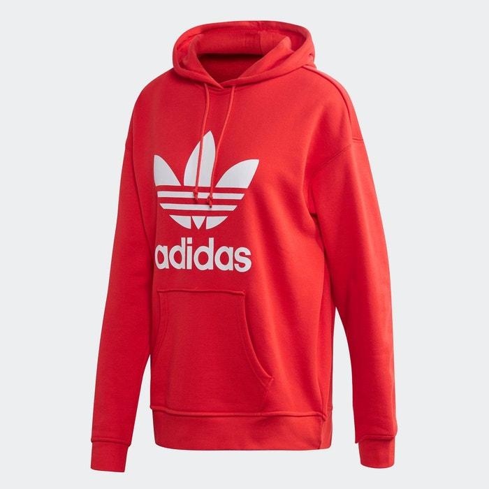 sweat-shirt boyfriend adidas rouge
