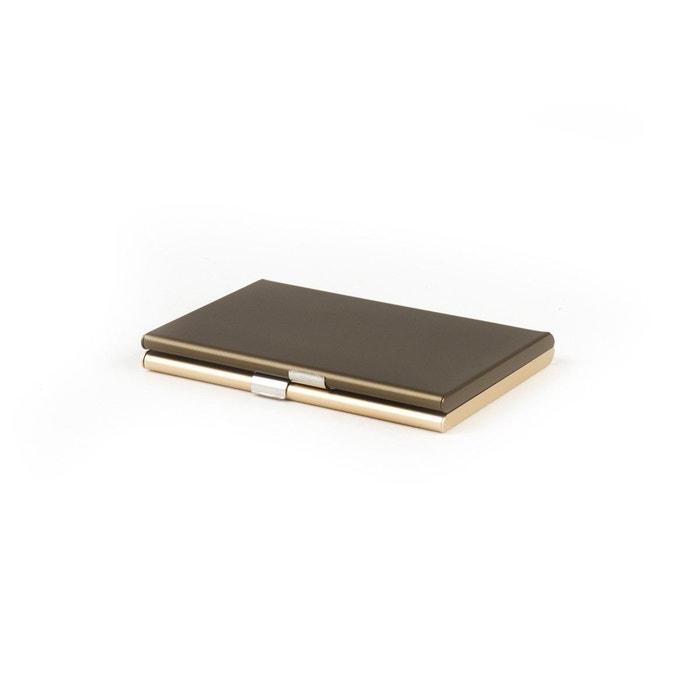Lexon Fine Porte cartes de visite avec Miroir Bleu