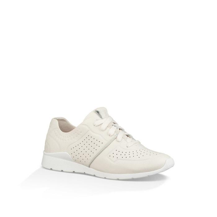 Tye leather trainers , white, Ugg   La