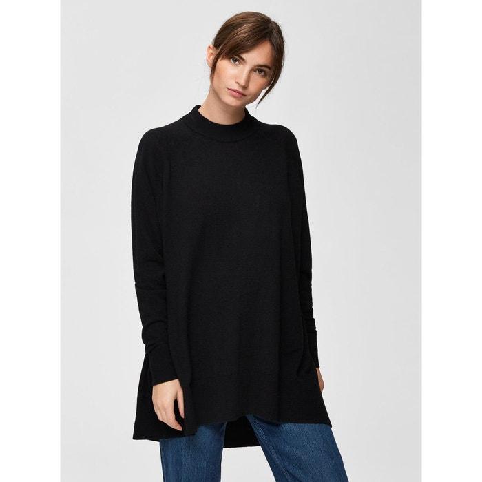 nouveaux articles super pas cher prix réduit Pull en maille ample - noir black Selected Femme | La Redoute