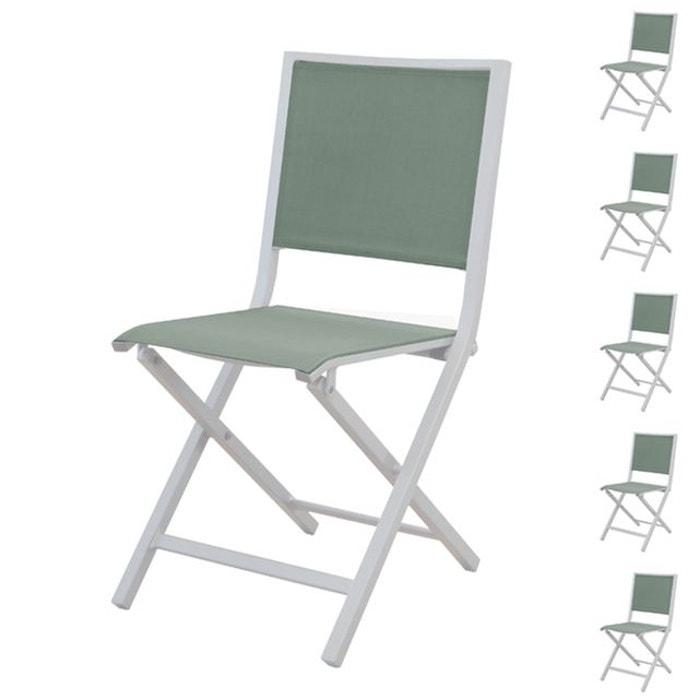 Chaise pliante ida amande (lot de 6) Rendez Vous Deco | La