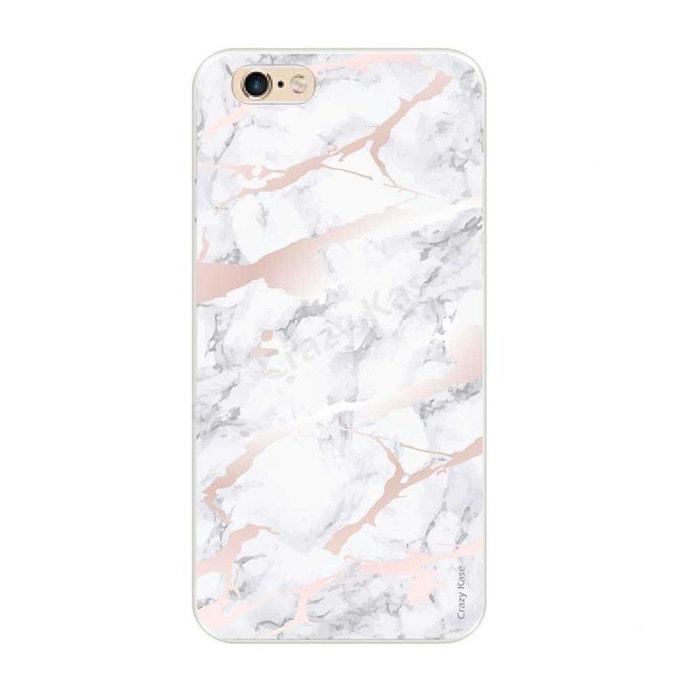 Coque pour iPhone 6 Plus / 6s Plus souple effet Marbre rose