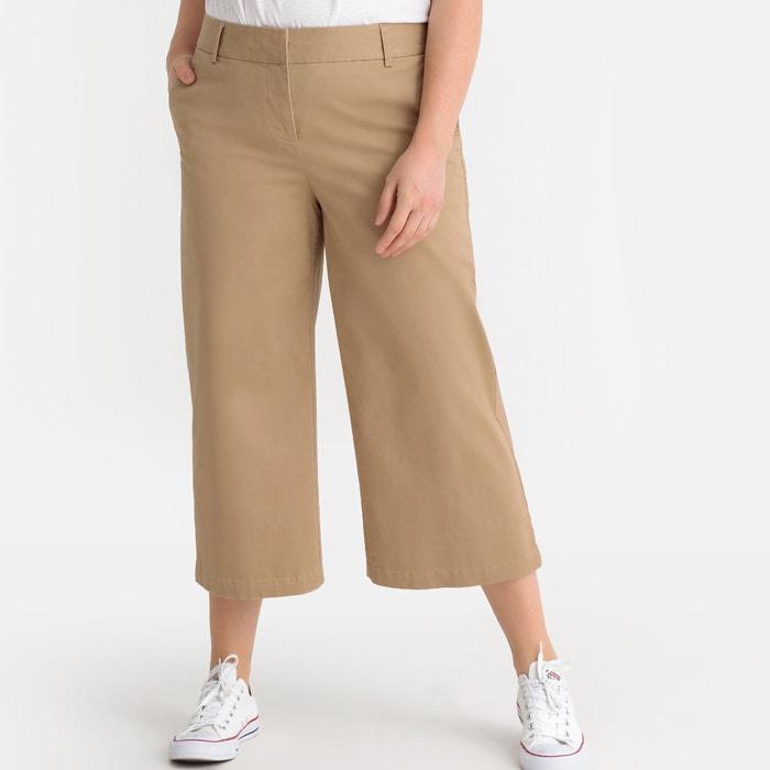 prezzo competitivo a96a9 0d648 Pantaloni a pinocchietto larghi 7/8 taglio chino beige ...