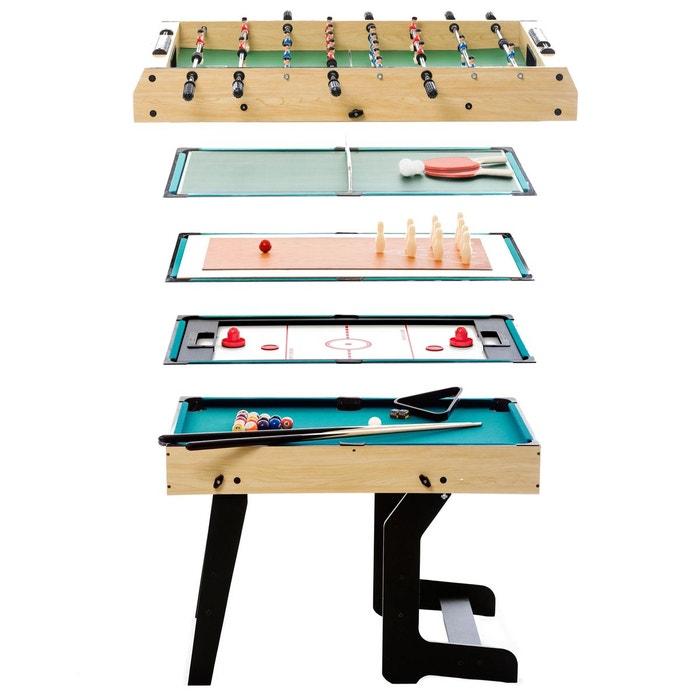 Table multi-jeux pliable 16 en 1 bois Rendez Vous Deco | La ...