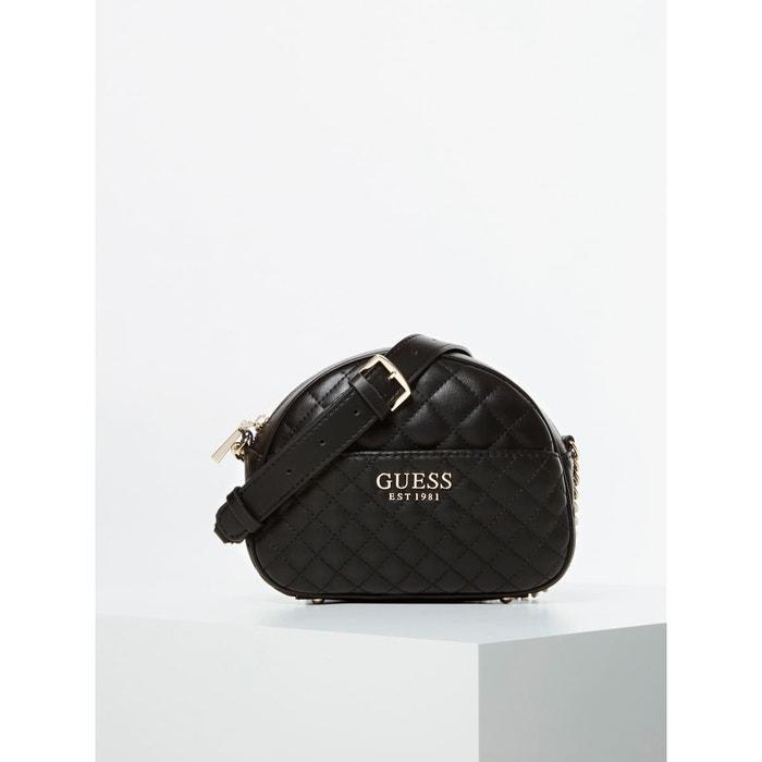 Mini sac à bandoulière brielle surpiqué noir Guess | La Redoute
