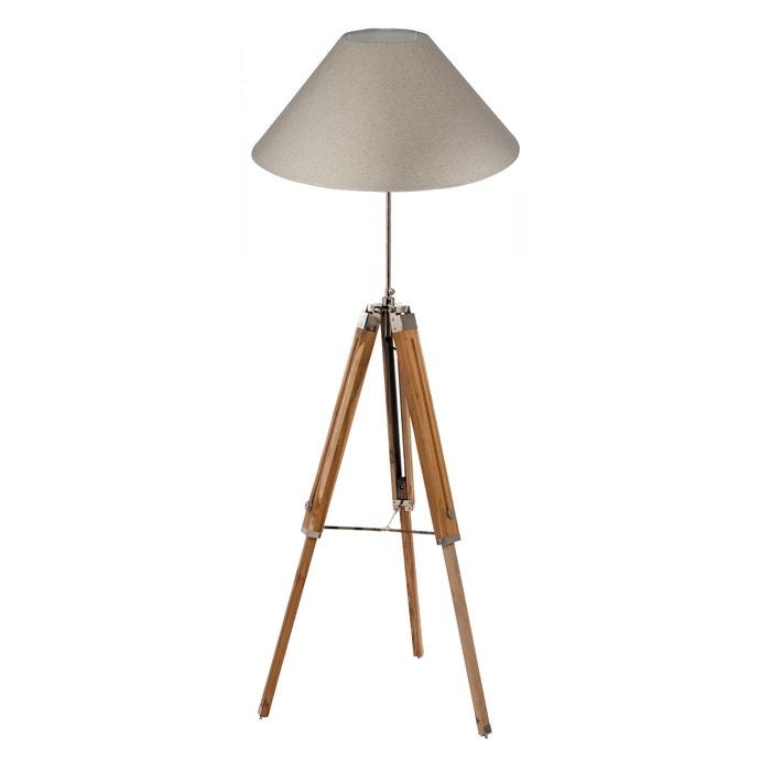 Tripod Floor Lamp In Natural Wood Base