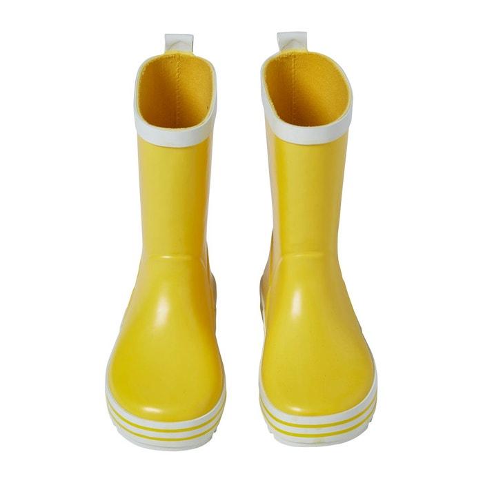 Bottes de pluie en caoutchouc jaune Vertbaudet   La Redoute