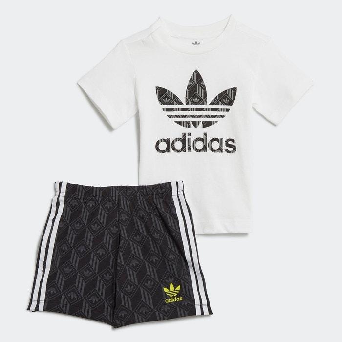 Ensemble short et t shirt blanc Adidas Originals | La Redoute