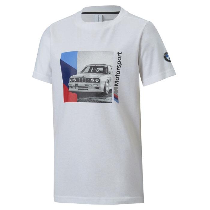 Cotton t-shirt with bmw m motorsport 8 print