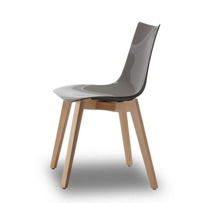 Chaise design avec pieds bois naturel NATURAL ZEBRA Antishock Vendu à l'unité déco originale