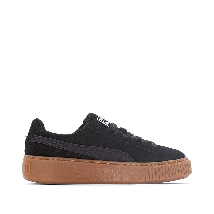 promo code b347a d31d3 Suede platform gum trainers black Puma | La Redoute