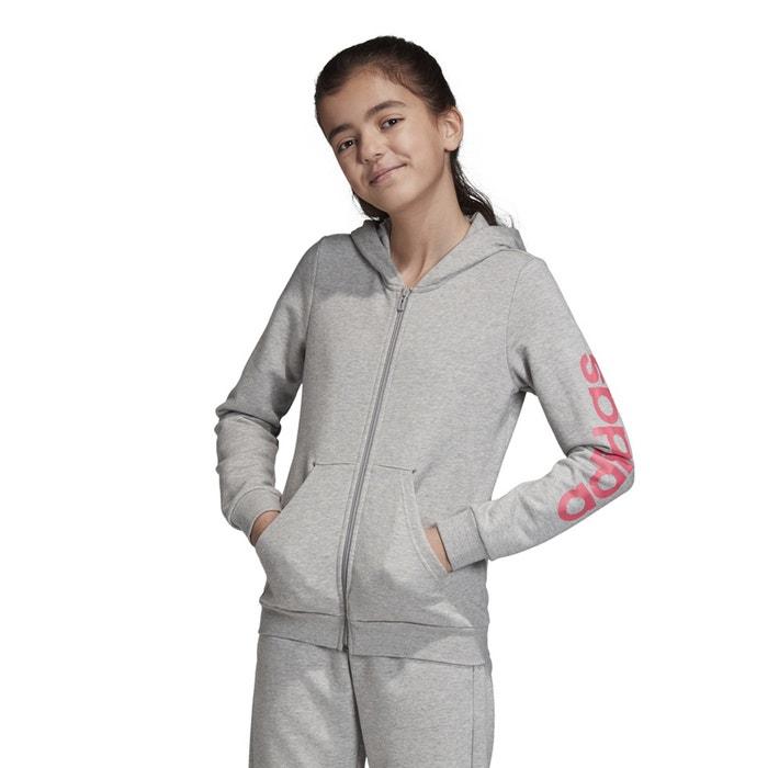 Kapuzenjacke 7 15 jahre graurosa Adidas | La Redoute