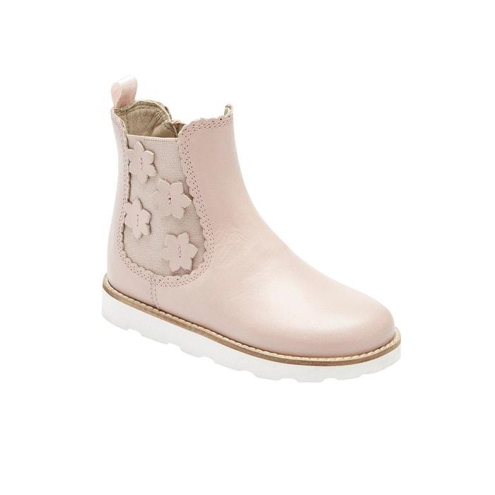 Boots fille en cuir vernis rose Vertbaudet | La Redoute