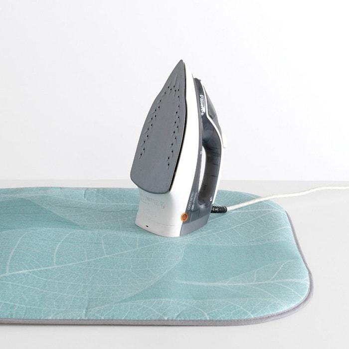 Acmebon Tapis de repassage portable avec espace en silicone pour poser le fer /à repasser grande couverture de repassage /épaisse pour voyager Argent avec noir