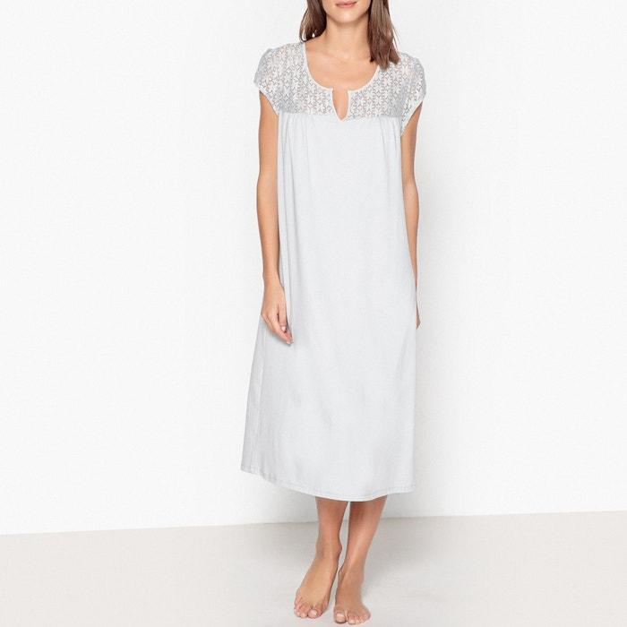 nuovo concetto a04b9 05195 Camicia da notte pizzo grigio perla La Redoute Collections ...