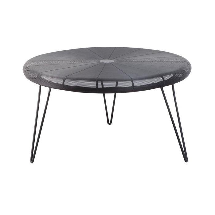 Table Basse Ronde Fil De Fer Tresse Noir Made In Meubles La Redoute