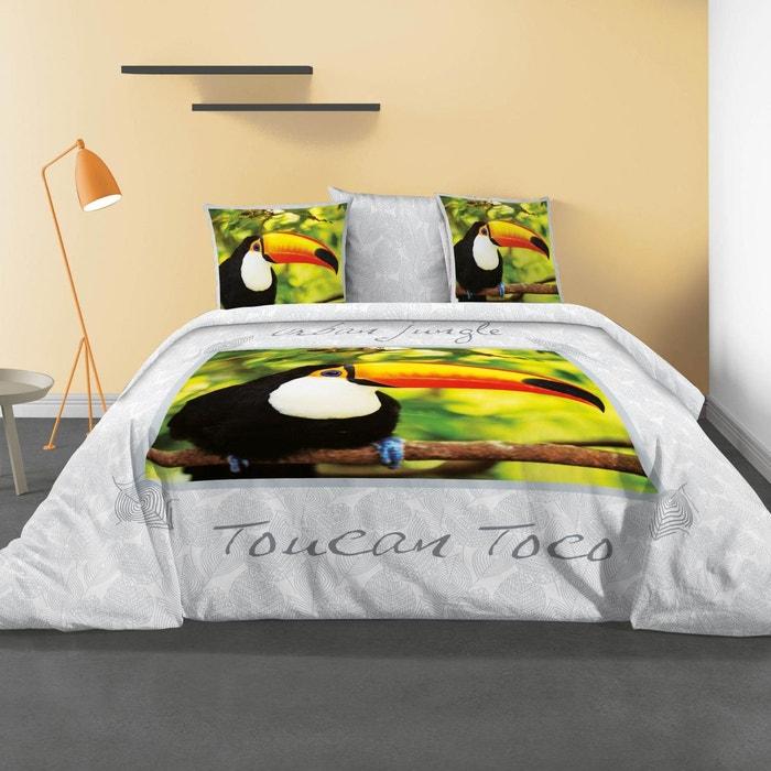 2 taies doreiller 63X63 cm NIGHT COLLECTION ZEN Parure de Couette Zen Coton Multicolore 240 x 220 cm