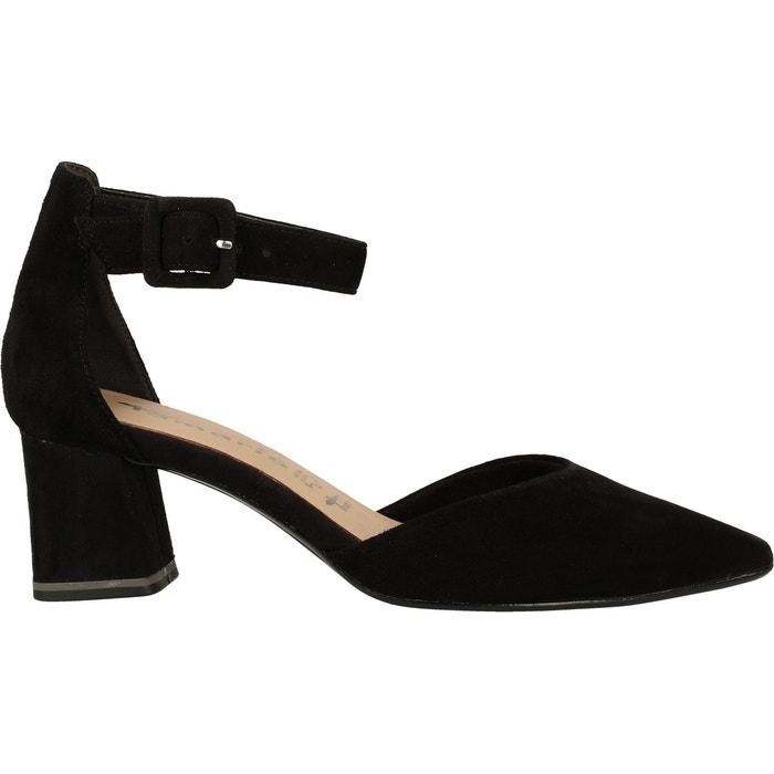 Sandales suède noir Tamaris | La Redoute