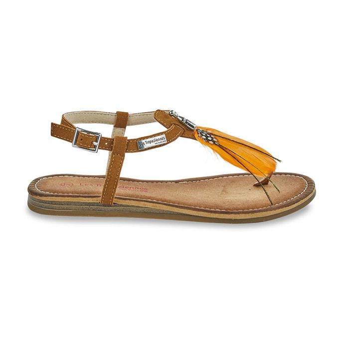 éclatant super pas cher se compare à magasin discount Sandales cuir entre-doigts gaelle tan Les Tropeziennes Par M ...