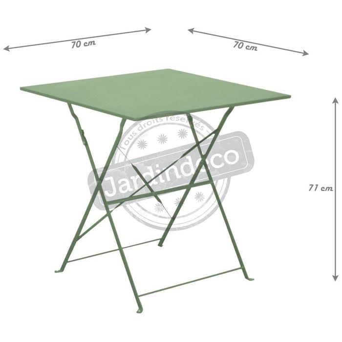 Guéridon carré en acier 70 cm cuba Proloisirs | La Redoute
