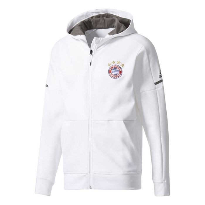 official supplier pretty cheap detailed look Veste à capuche fc bayern munich anthem squad blanc Adidas ...