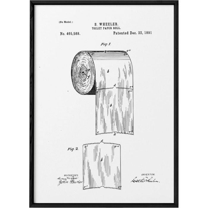 Affiche Brevet Papier Toilette