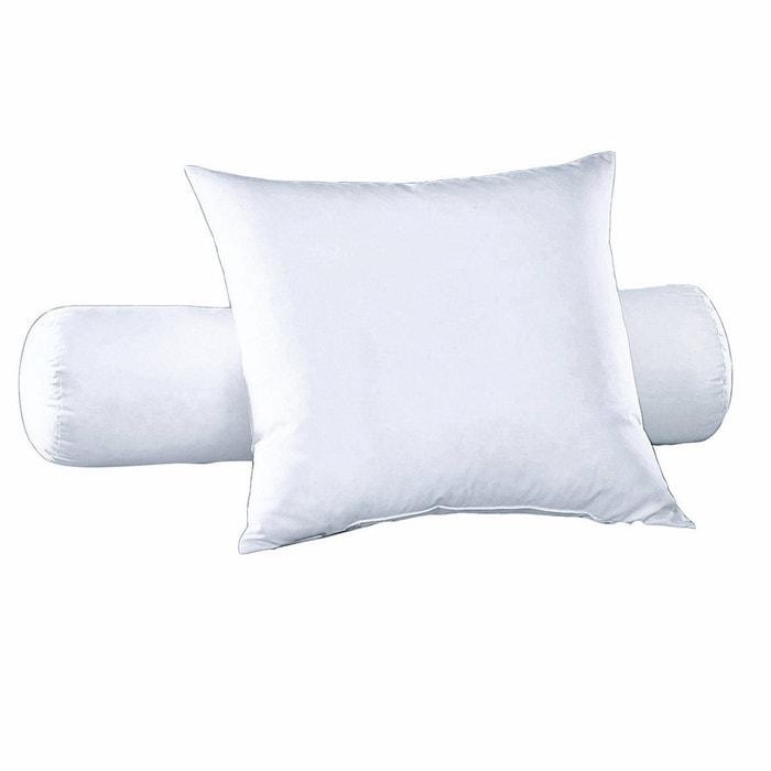 Cuscini Piuma D Anatra.Cuscino Cilindrico In Piume D Anatra Anti Acari Bianco Pyrenex