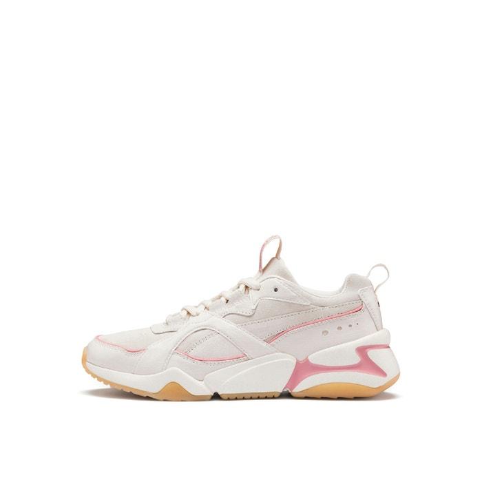 suede trainers beige / pale pink Puma