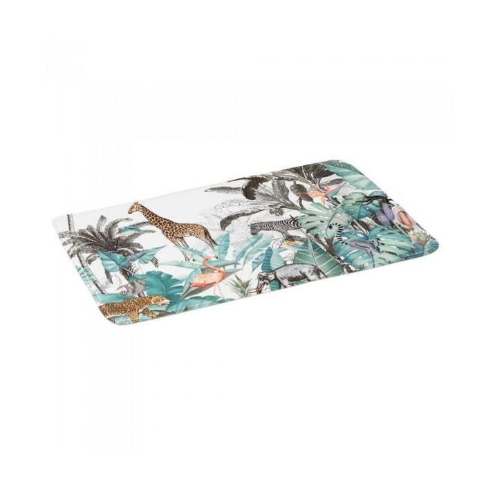 Tapis De Bain Microfibre Jungle 45x70cm Multicolore Wadiga La Redoute