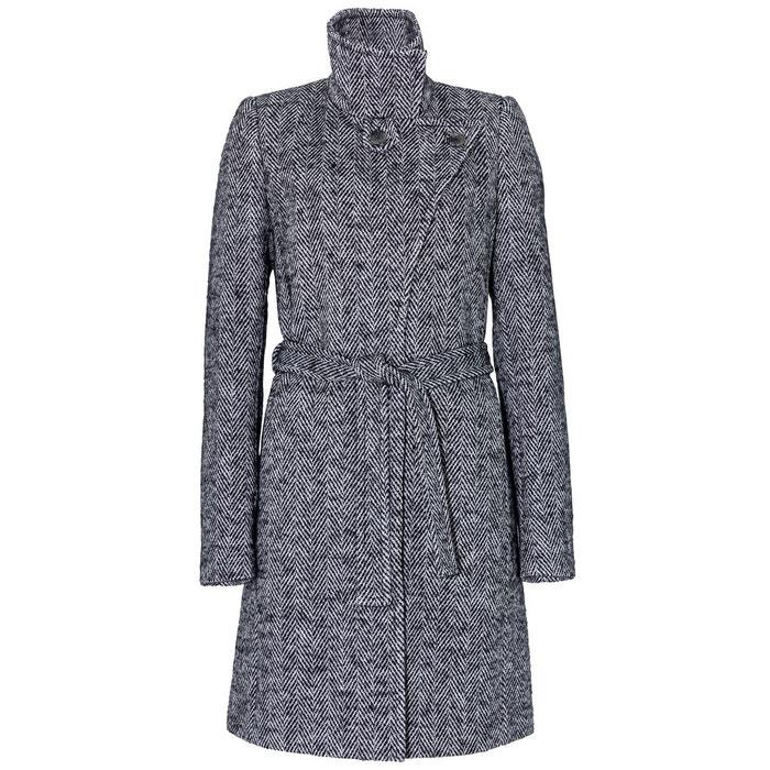 Manteau mi long en chevron gris Renoma   La Redoute