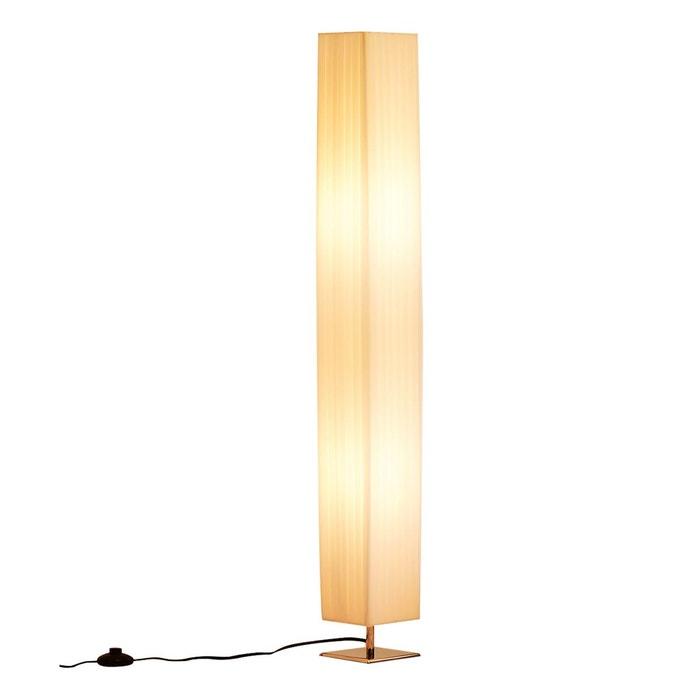 Lampadaire bois et blanc | La Redoute