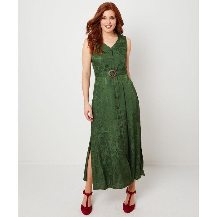 obtenir pas cher détails pour sortie en vente Robe chemise maxi longue florale jacquard vert Joe Browns | La Redoute