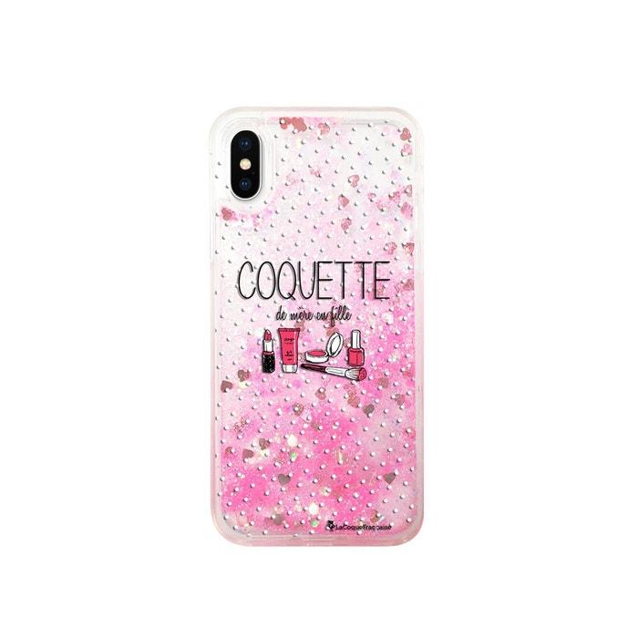 coque iphone xs max paillette liquide mauve