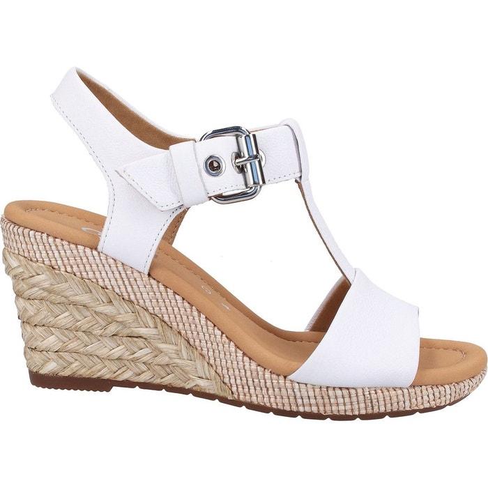sandales blanches à talon gabor