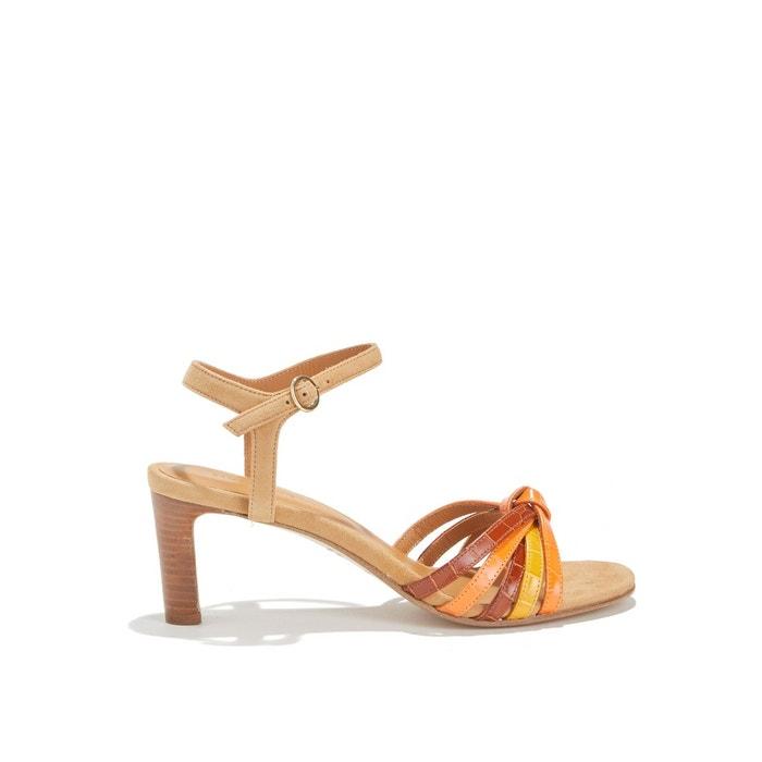 Sandales à talon et brides multicolores multicolore Rivecour