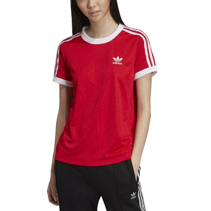 t shirt manche longue rouge adidas femme