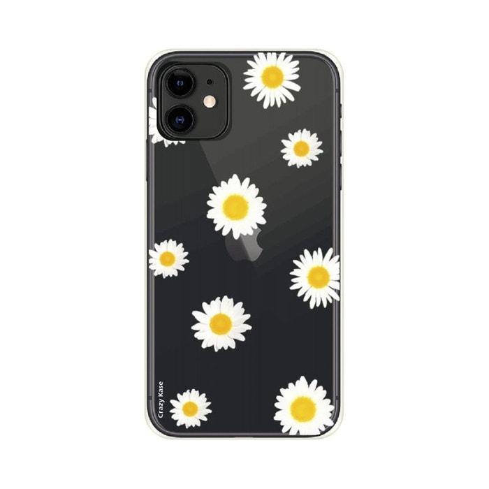 Coque pour iPhone 11 souple Marguerite