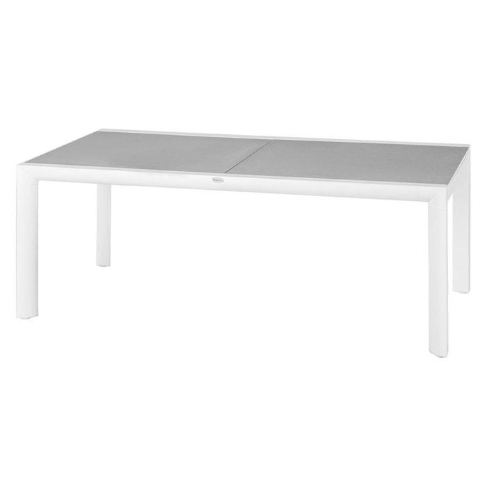Table de jardin extensible titanium - 12 personnes blanc ...