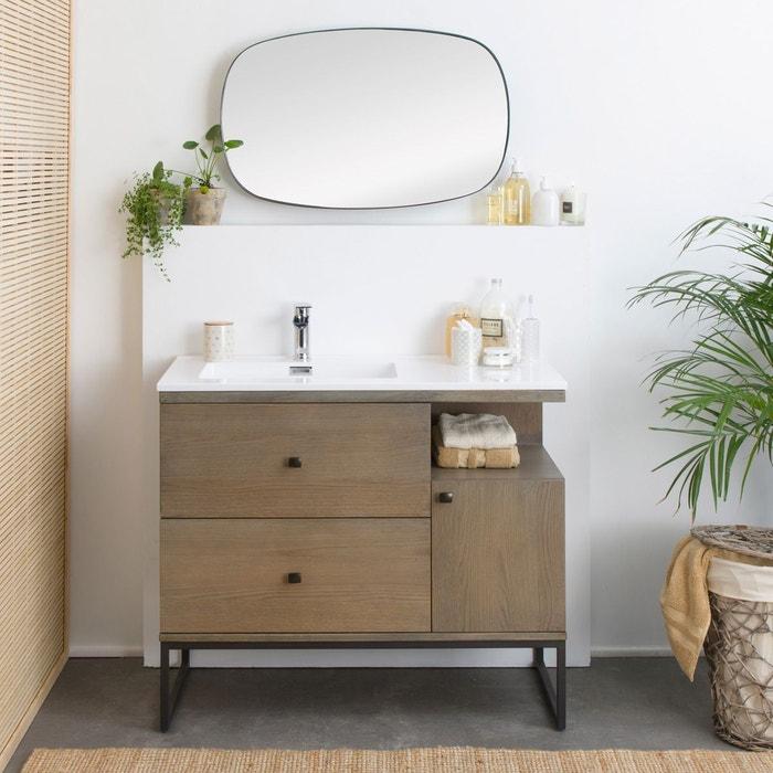 Meuble salle de bain industriel 2 tiroirs 1 porte 1 vasque ...