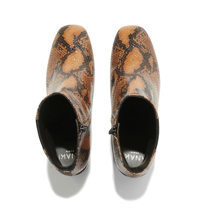 talon Anaki pythonLa à motif en abbey Boots cuir python xsChQtrd