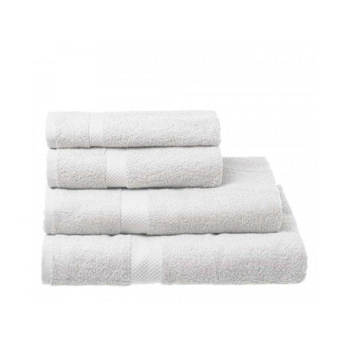 Lot de 2 serviettes de bain 100/% coton /à broder Blanc 70 x 140 cm