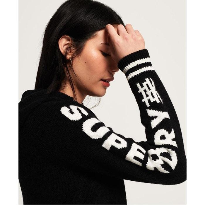 Sweat à capuche Sleeve Logo Superdry Superdry Noir Nylon 45