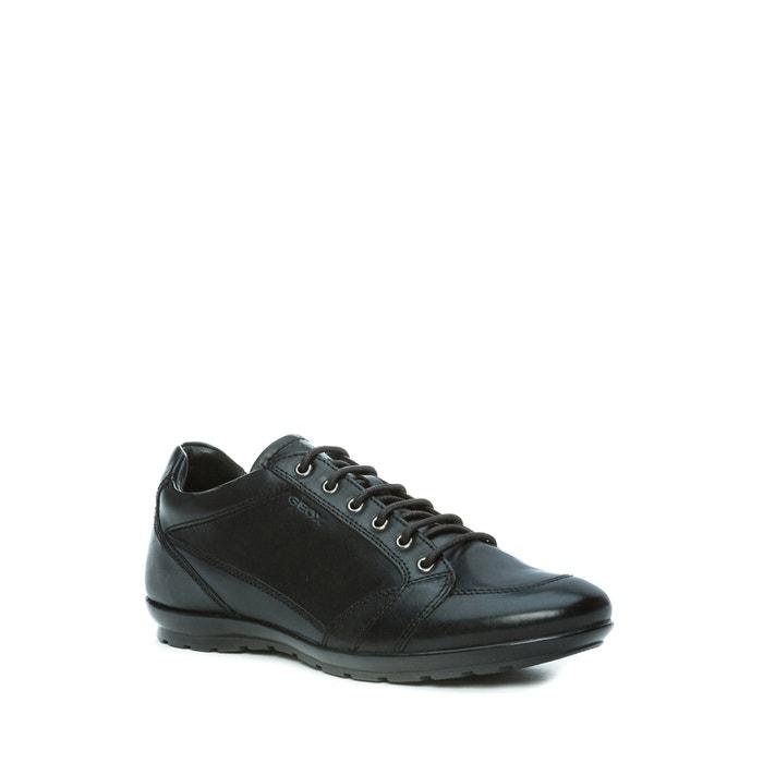 discount 50% price buy popular U symbol d leather trainers , black, Geox | La Redoute
