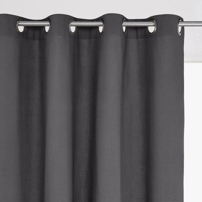 Designer 100/% lin rouge /& blanc cassé à rayures texturé rideau tissu 3 OOCM Large