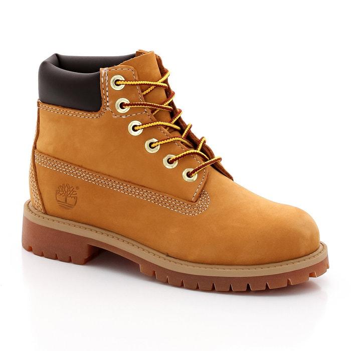 Kids 6 in premium nubuck boots , honey