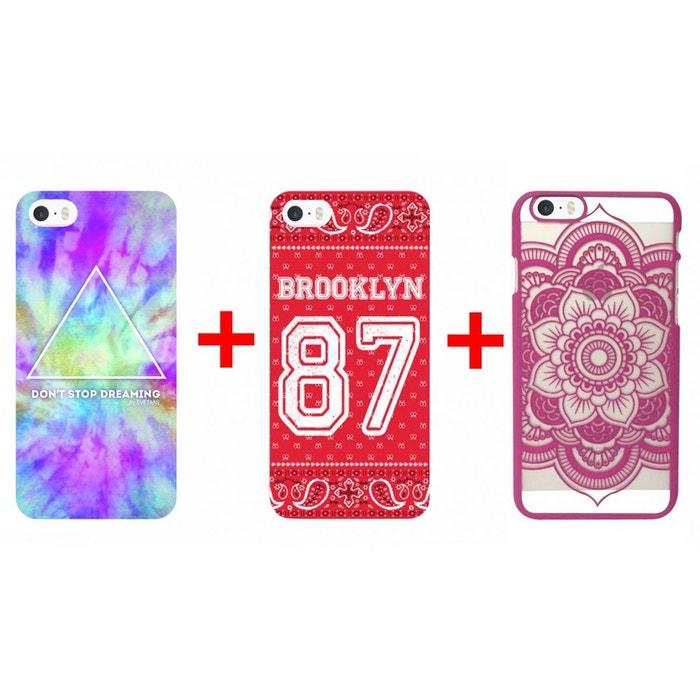 lot de 3 coques iphone 5 5s