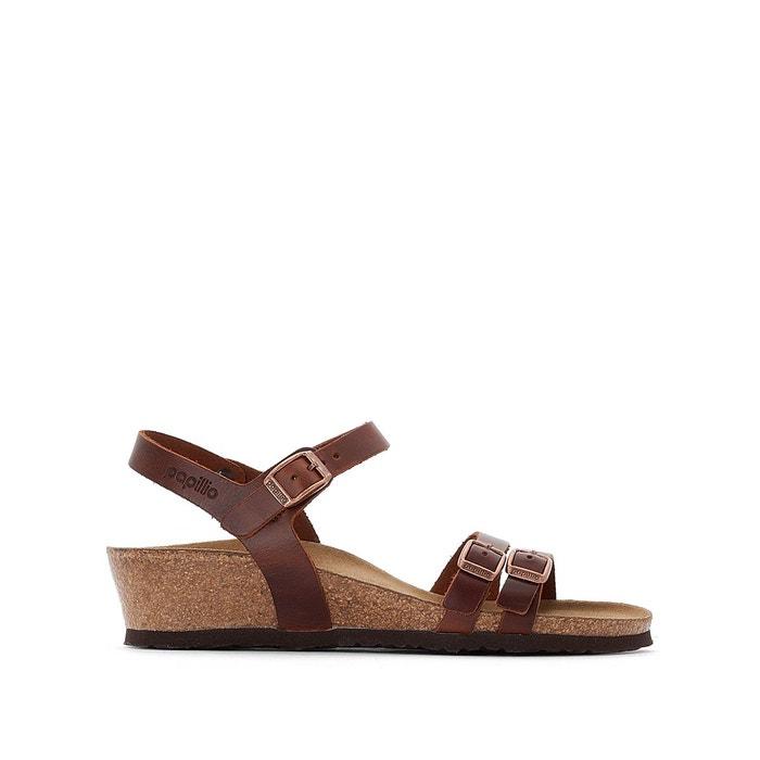 Sandales plates cuir lana cognac Birkenstock | La Redoute