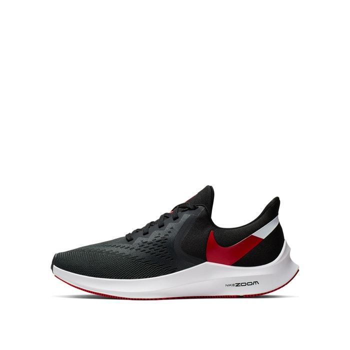 Sapatilhas running zoom winflo 6 pretovermelhocinza Nike